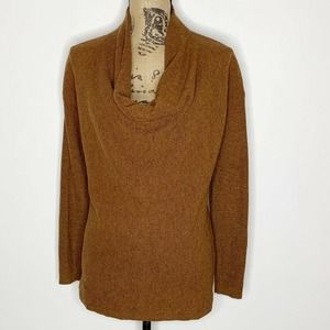 Loft Cowl Neck Sweater Brown Size Small